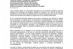 Carta de intención de motivos para obtener el ESR 2019c
