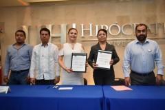 Firman convenio de colaboración la Universidad Hipócrates y el Sindicato Nacional de Trabajadores del Seguro Social Sección XVII