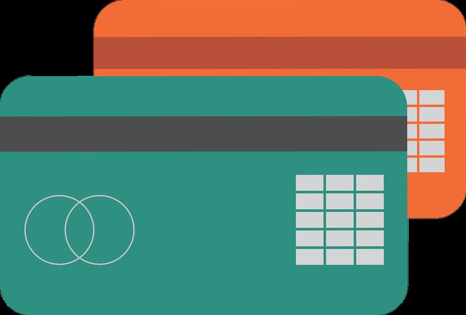 Tarjetas de crédito en color verde y naranja para colegiaturas