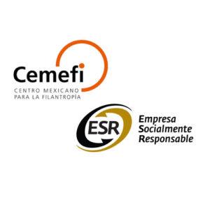 Logotipos Cemefi y ESR