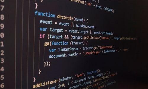Código de programación para desarrollo de software