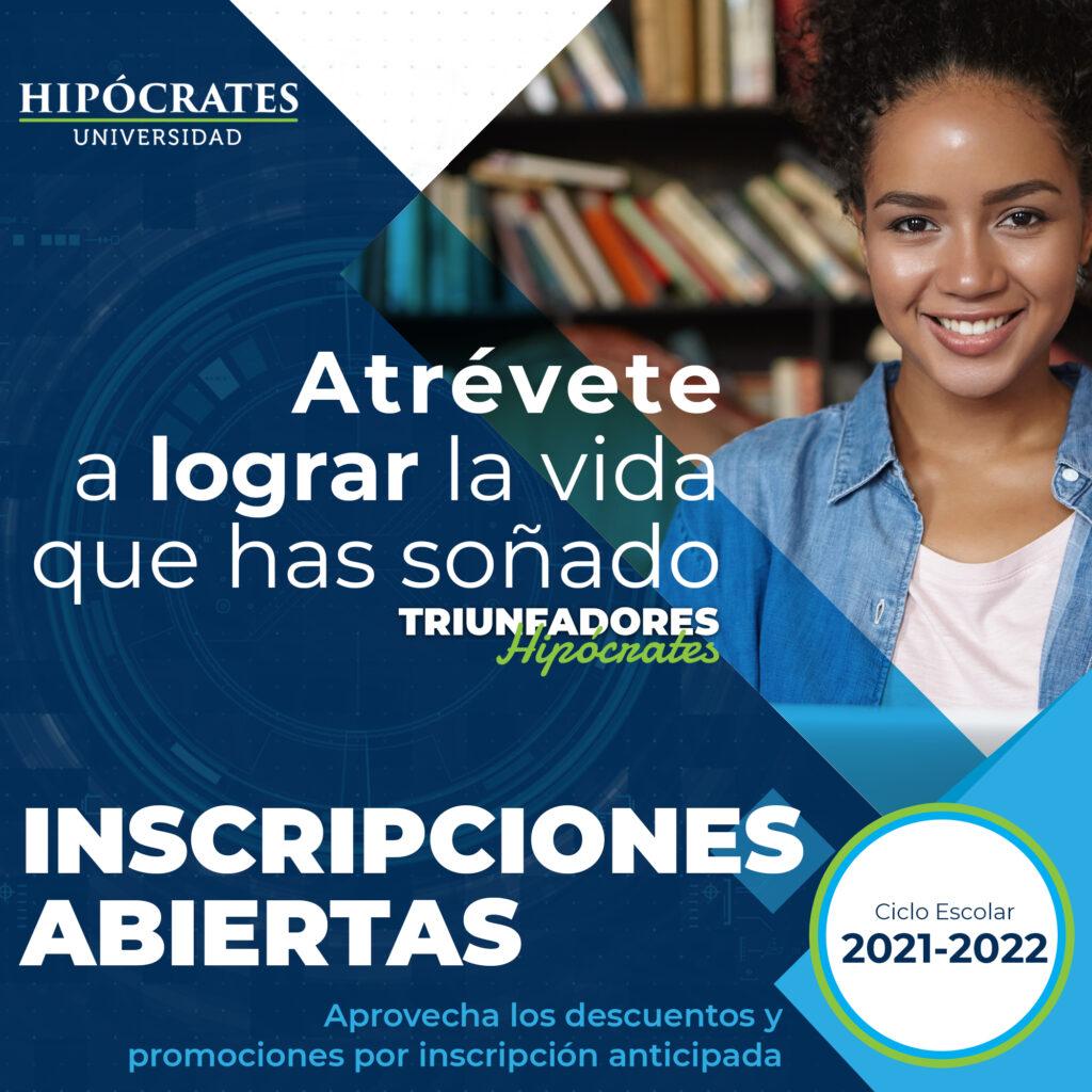 Inscripciones Universidad Hipócrates ciclo escolar 2021 - 2022