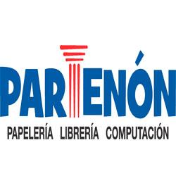 Logo de papelería Partenón